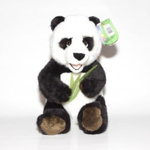 panda plush with bamboo
