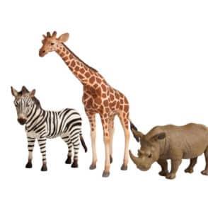 collecta figerine Giraffe zebra rhino web
