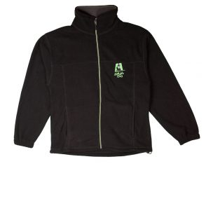 AZ Black green zip jumper web