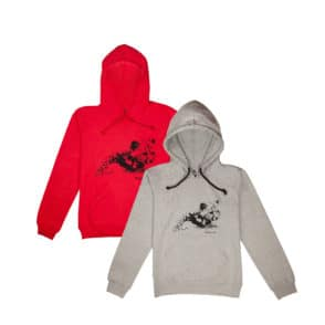 Cheetah grey and red hoody 1 web