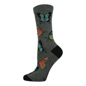Womens Butterfly bamboo socks