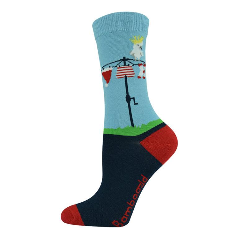 Womens Aussie Christmas bamboo socks